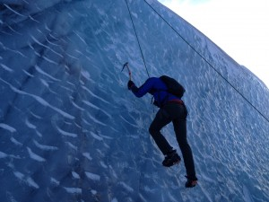 Getting a little ice climbing in on Sólheimajökull